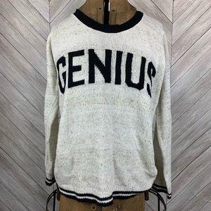 Genius Say What? Sweater. Medium